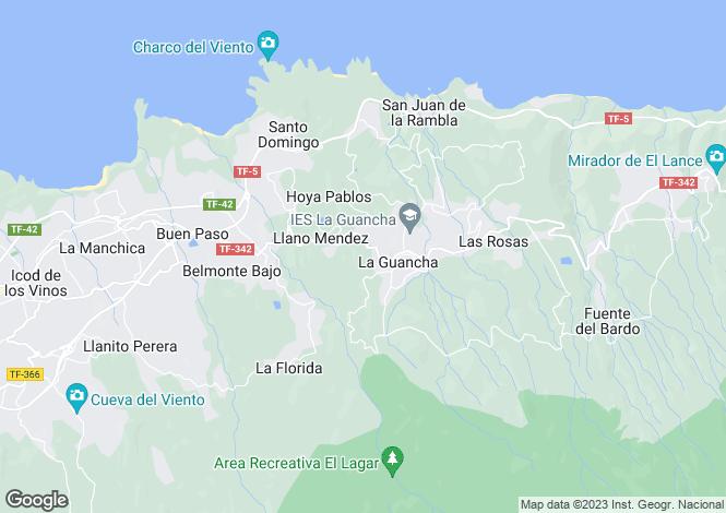 Map for Canary Islands, Tenerife, La Guancha