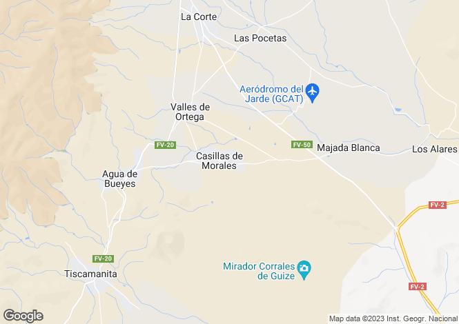 Map for Casillas De Morales, Fuerteventura, Canary Islands