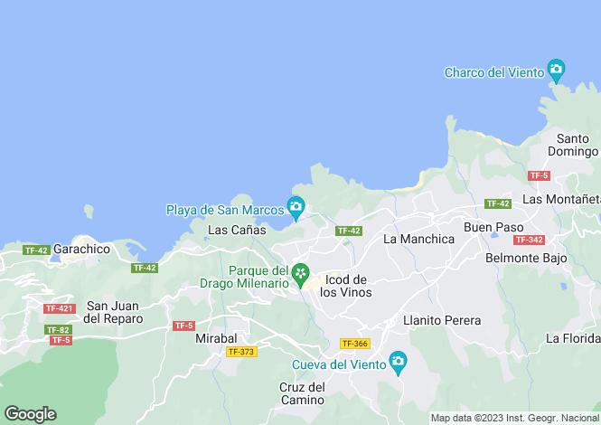 Map for Canary Islands, Tenerife, Icod De Los Vinos