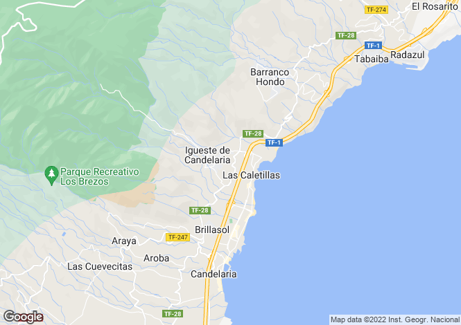 Map for Candelaria, Tenerife, Spain