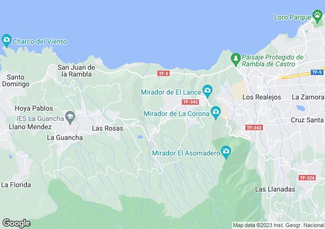 Map for Puerto de la Cruz, Tenerife, Spain