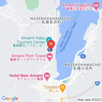 名瀬港湾センターの地図
