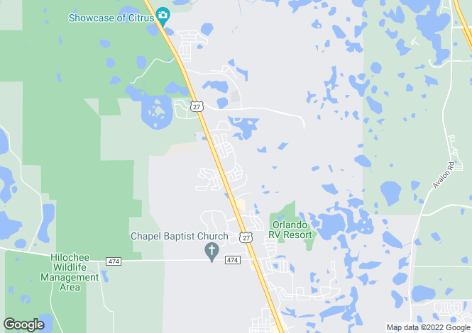 Map for Clermont, Lake County, Florida