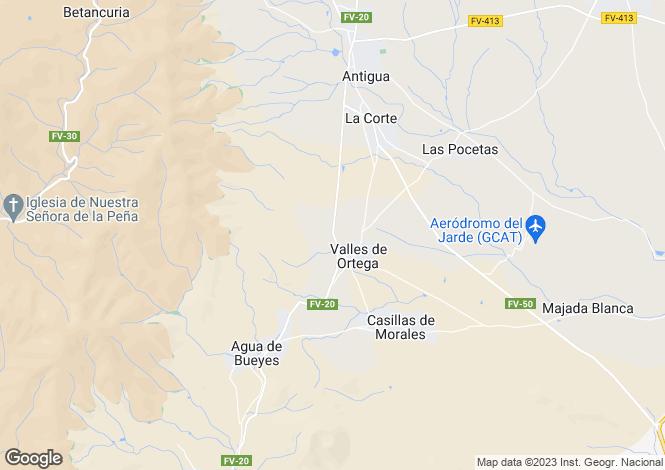 Map for Antigua, Fuerteventura, Canary Islands