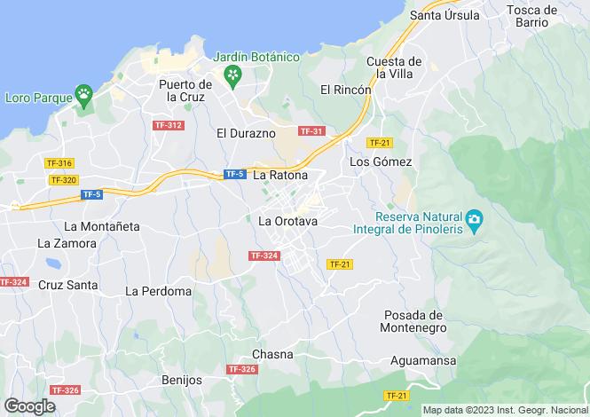 Map for Valle De La Orotava, Tenerife, Spain