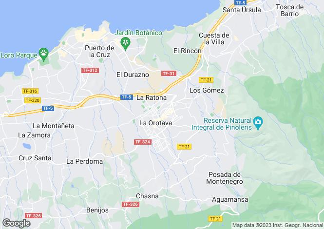 Map for La Orotava, Tenerife, Canary Islands