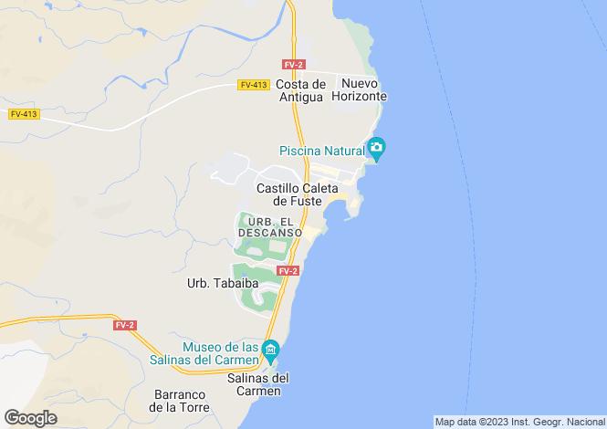 Map for Caleta De Fuste, Fuerteventura, Canary Islands