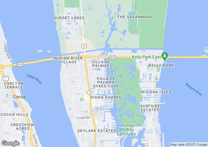 Map for USA - Florida, Brevard County, Merritt Island
