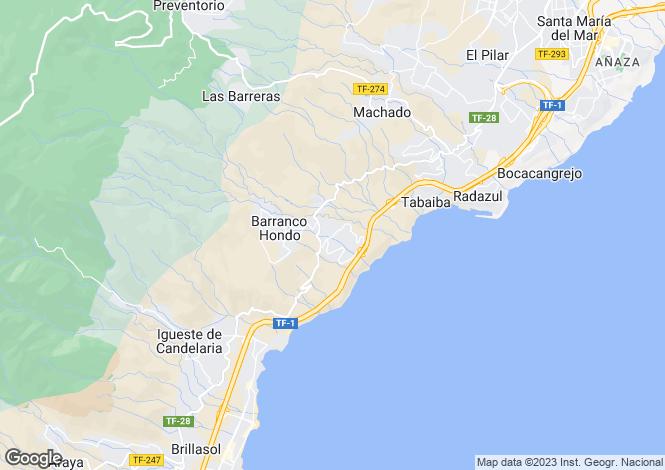 Map for Barranco Hondo, Tenerife, Spain