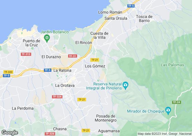 Map for Canary Islands, Tenerife, La Orotava