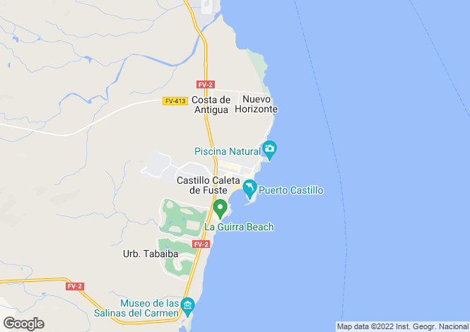 Map for Caleta De Fuste, Fuerteventura, Canary Islands