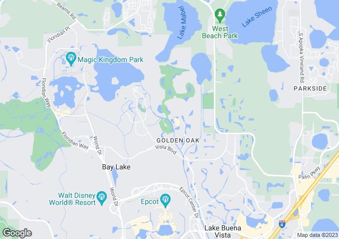 Map for Florida, Orange County, Lake Buena Vista