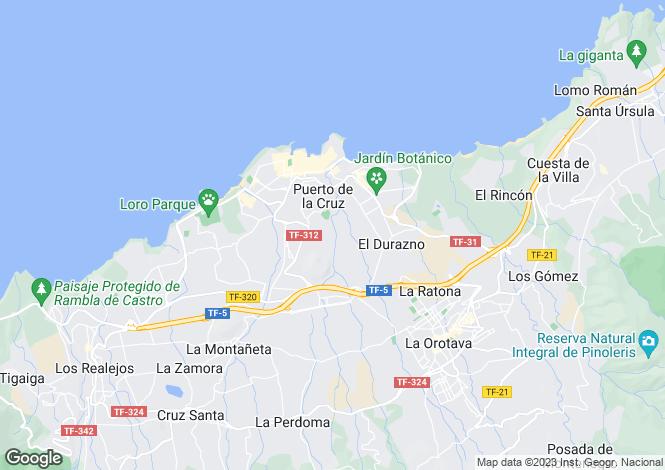 Map for Canary Islands, Tenerife, Puerto de la Cruz