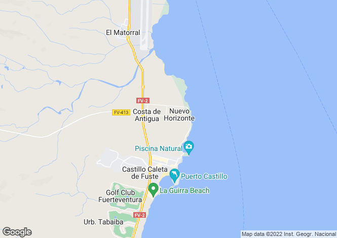 Map for Costa De Antigua, Fuerteventura, Spain