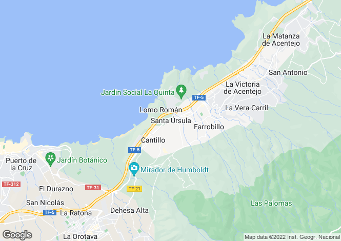 Map for Santa Ursula, Tenerife, Spain