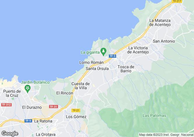 Map for Santa Ursula, Tenerife, Canary Islands