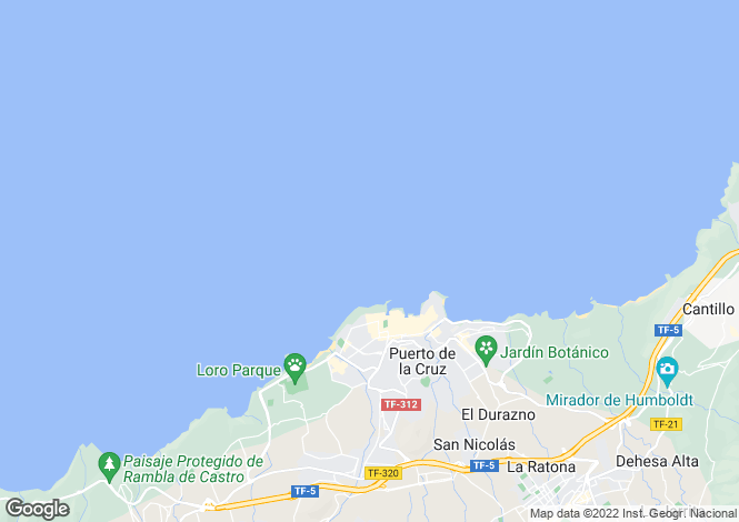 Map for El Madronal, Tenerife, Spain