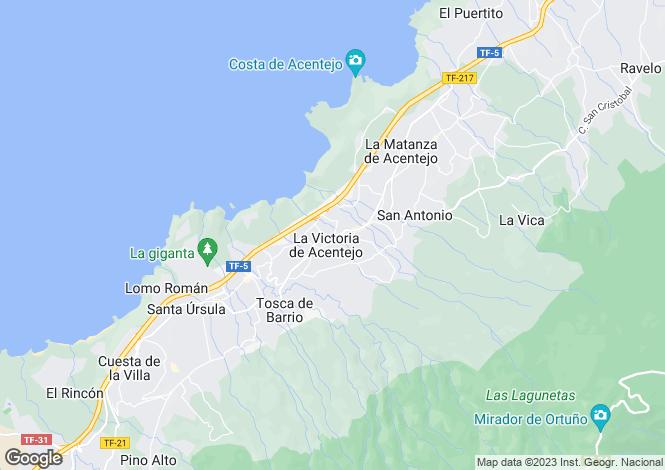 Map for Canary Islands, Tenerife, La Victoria De Acentejo