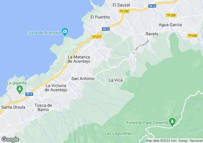 Map for La Matanza, Tenerife, Spain