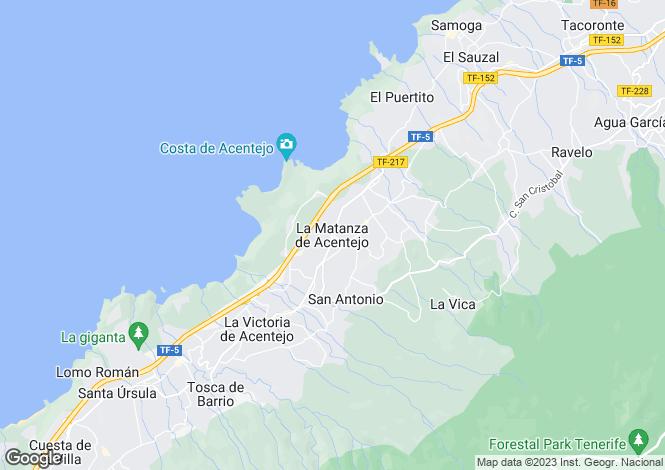 Map for La Matanza de Acentejo, Tenerife, Spain