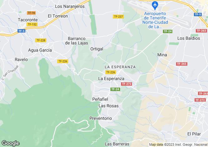 Map for Canary Islands, Tenerife, El Rosario