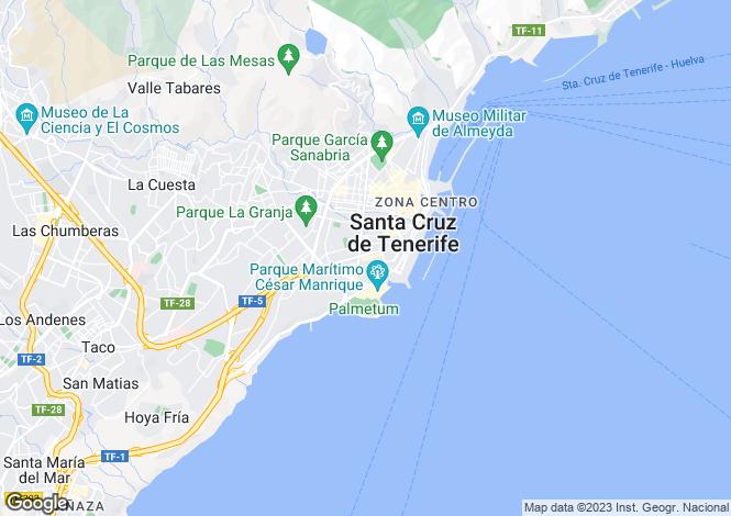 Map for Canary Islands, Tenerife, Santa Cruz de Tenerife