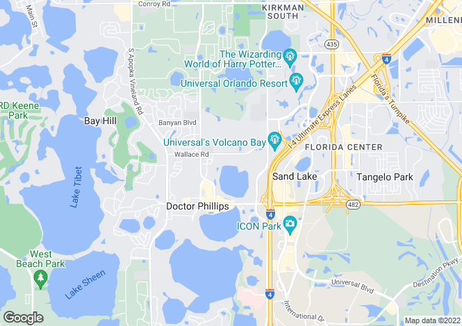 Map for USA - Florida, Orange County, Orlando