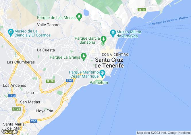 Map for Santa Cruz de Tenerife, Tenerife, Canary Islands