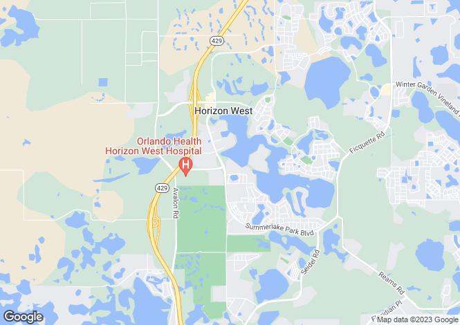 Map for Florida, Orange County, Winter Garden