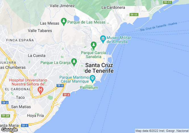 Map for Canary Islands, Tenerife, Buenavista Del Norte
