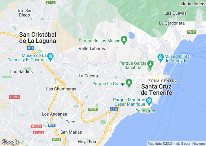 Map for San Cristobal De La Laguna, Tenerife, Canary Islands