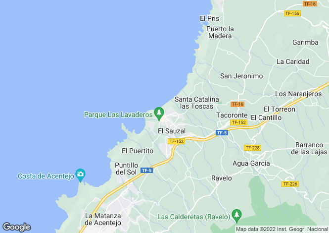 Map for El Sauzal, Tenerife, Spain