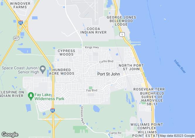 Map for USA - Florida, Brevard County, Cocoa