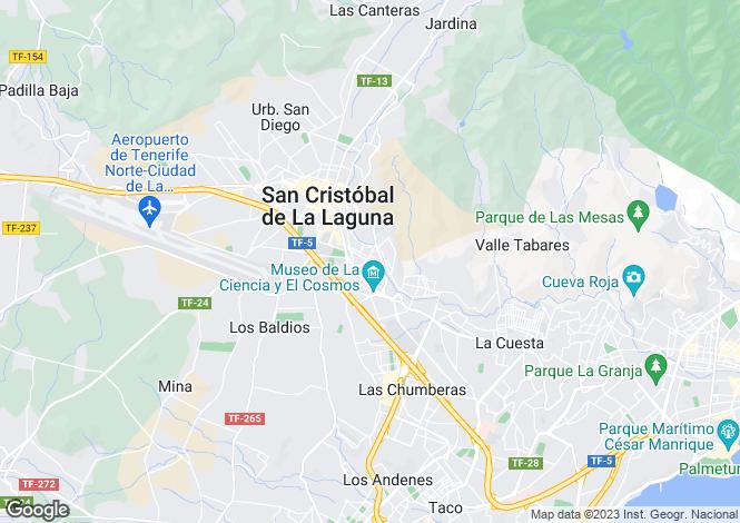 Map for Canary Islands, Tenerife, San Cristobal De La Laguna