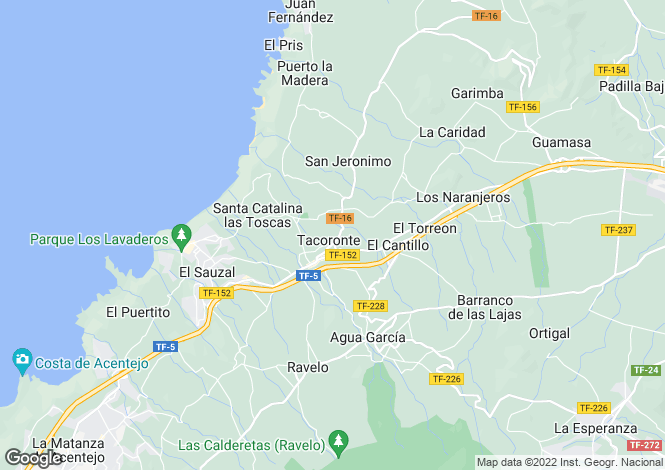 Map for Tacoronte, Tenerife, Canary Islands