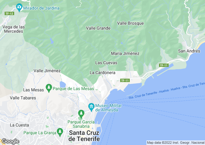 Map for La Cardonera, Tenerife, Spain