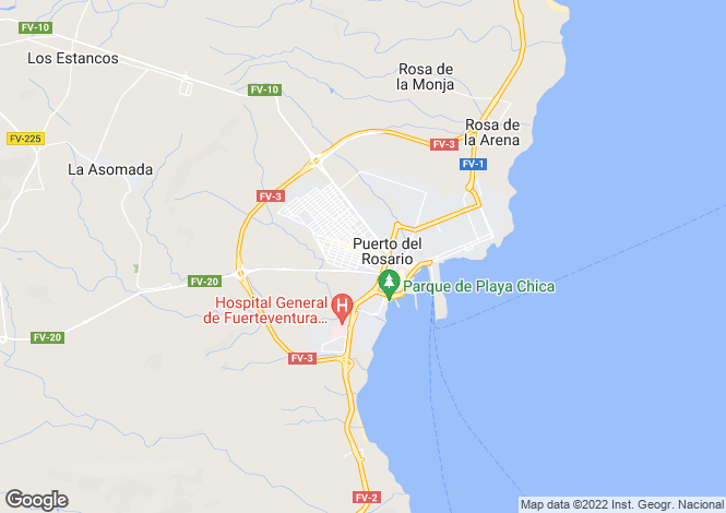 Map for Puerto Del Rosario, Fuerteventura, Spain