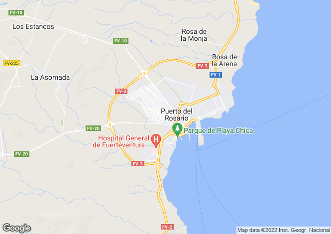 Map for Puerto Del Rosario, Fuerteventura, Canary Islands