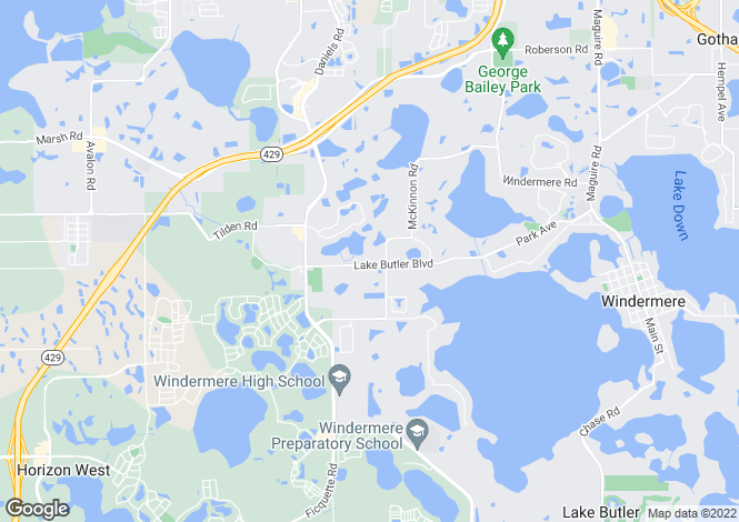 Map for USA - Florida, Orange County, Windermere