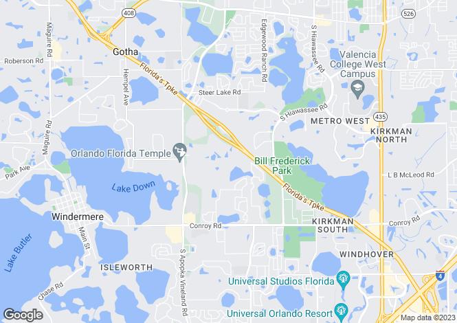 Map for USA - Florida, Orange County, Orlando