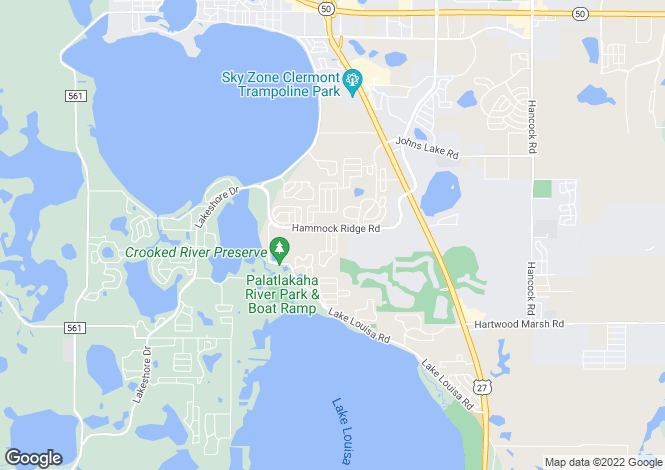 Map for USA - Florida, Lake County, Clermont