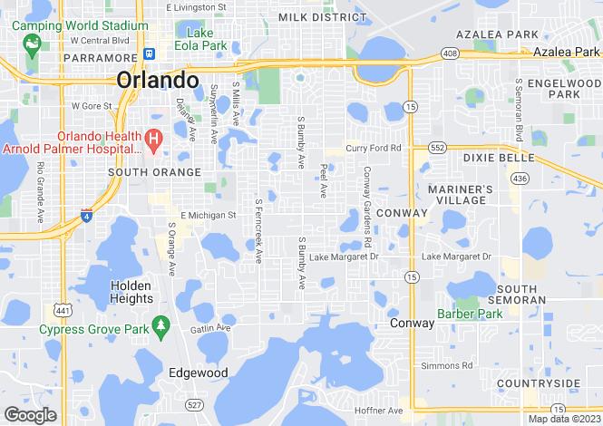 Map for Orlando, Orange County, Florida
