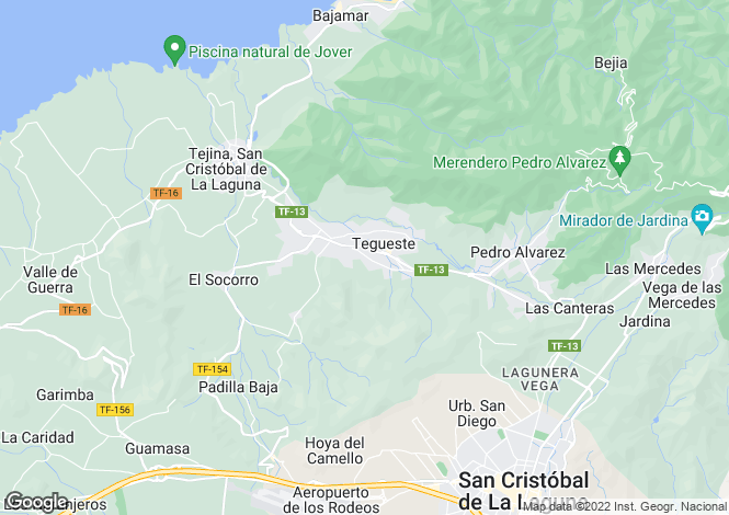 Map for Tegueste, Tenerife, Canary Islands
