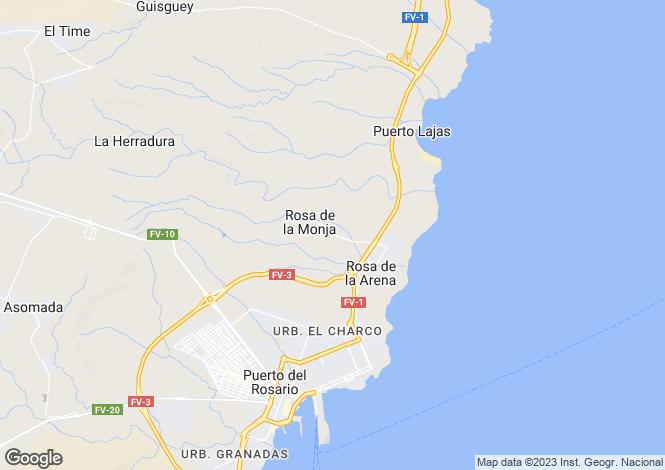Map for Puerto Del Rosario, Fuerteventura, Canary Islands