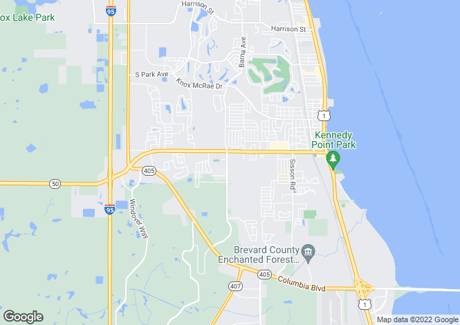 Map for USA - Florida, Brevard County, Titusville
