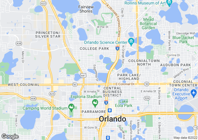 Map for 541 Lakeview St, Orlando, Orange