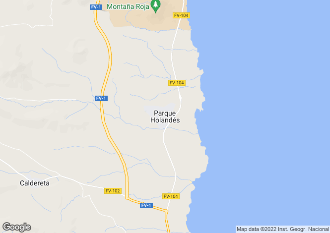 Map for Parque Holandes, Fuerteventura, Canary Islands