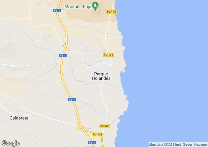 Map for Parque Holandes, Fuerteventura, Spain