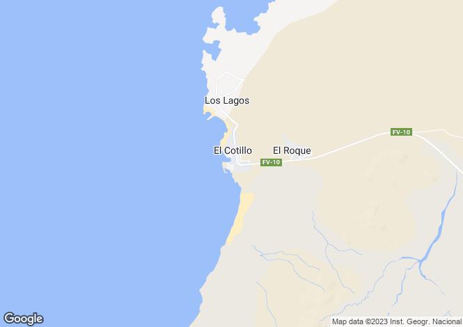 Map for El Cotillo, Fuerteventura, Canary Islands