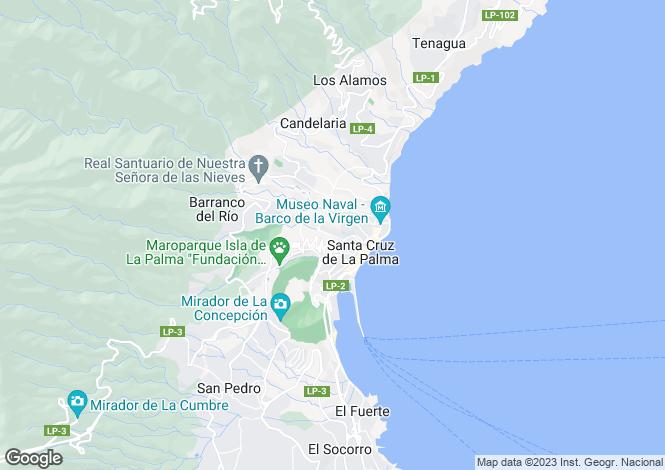 Map for Canary Islands, Tenerife, La Palma